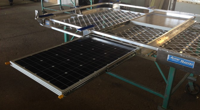 Solar Panels on slides so you can charge while you park.